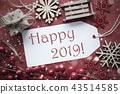 Nostalgic Christmas Decoration, Text Happy 2019 43514585