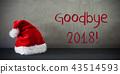 Santa Claus Hat, Text Goodbye 2018 43514593
