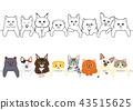 矢量 猫 猫咪 43515625