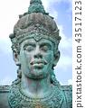 Close up of Garuda Wisnu Kencana Face, Bali 43517123