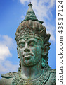Close up of Garuda Wisnu Kencana Face, Bali 43517124