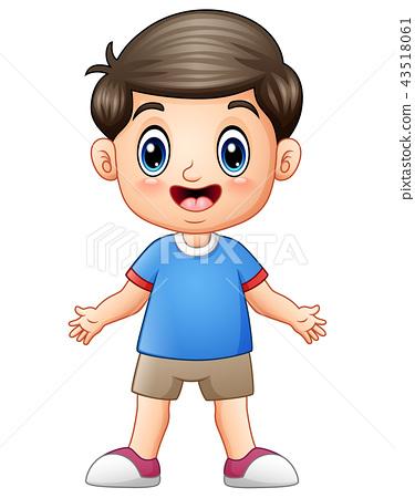 Happy boy cartoon 43518061
