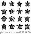 turtle icon set 43521869