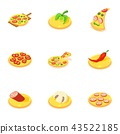 homemade, pizza, icons 43522185