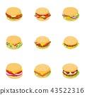 butcher, shop, icons 43522316