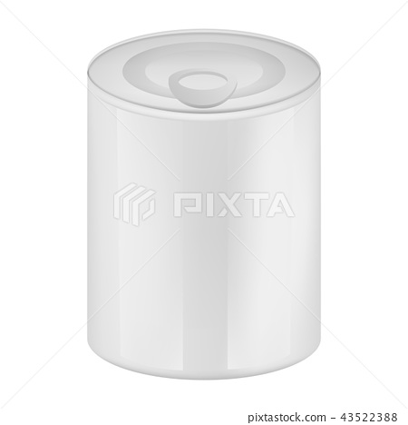 Tin can of olive mockup, realistic style 43522388