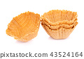 waffle bowl on white background 43524164