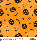 Halloween seamless pattern background - Vector 43524867