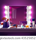 Makeup mirror with lamps vector illustration 43525652