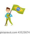 flag, people, brazil 43525674