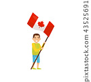 canada, flag, people 43525691