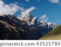 Mountain landscape, mountains with cloud and sky 43525780