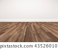 Wood floor and white wall, empty room background 43526010