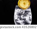 레몬, 유리컵, 음료 43526802