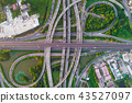 City transport road aerial view with car movement 43527097