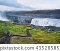 Landscape with waterfall Dettifoss, Iceland 43528585