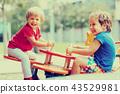 Children having fun at playground 43529981
