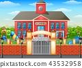 學校建築 卡通 向量 43532958