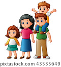 Happy family cartoon 43535649