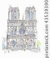 巴黎圣母院,前面 43539390