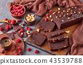 close-up of chocolate buckwheat pound cake 43539788