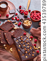 chocolate buckwheat pound cake with nuts 43539789