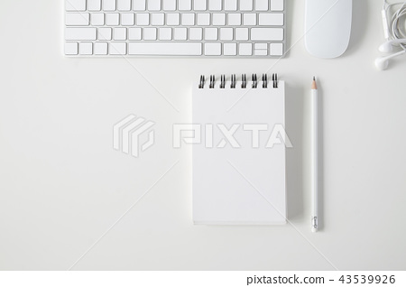Copy space topview of working business table. 43539926