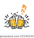 Hand drawn beer toast illustration 43540244