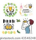 Beer frame toast illustration set 43540248