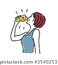 ภาพประกอบของหญิงสาวกำลังดื่มเบียร์ 43540253