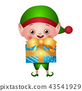 elf, christmas, gift 43541929