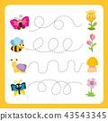 worksheet vector design for kid 43543345