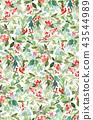 holly, seamless, pattern 43544989