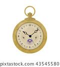 古色古香的懷錶例證 43545580