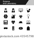 Science and Laboratory icons.  43545798