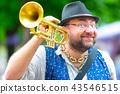 Baritone saxophone player  43546515