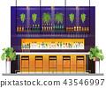 Interior scene of modern pub with bar counter 43546997