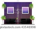Interior scene of modern restaurant 43546998