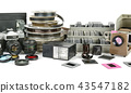 Obsolete equipment for photo and video shooting 43547182