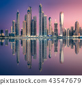 Dubai Marina bay view from Palm Jumeirah, UAE 43547679