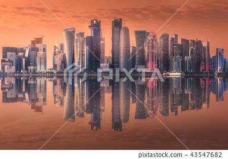 Skyline of West Bay and Doha City Center, Qatar 43547682