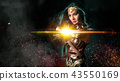 Cosplay dressed woman and lighting effect 43550169