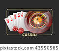 Casino Games of Fortune Conceptual Banner 3d Illustration of Casino Games Elements 43550565