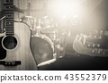 Guitar on music band background, musical concept 43552379