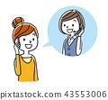 ภาพประกอบสต็อก: คอลเซนเตอร์, หญิง, ผู้หญิง 43553006