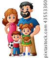 Happy family cartoon 43553360