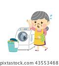 여성, 여자, 세탁 43553468