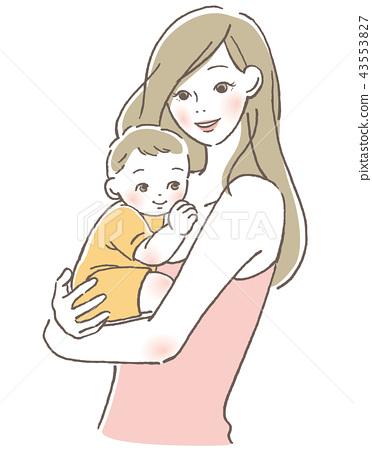 아기와 엄마 43553827