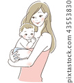 a cuddle, mother, parenthood 43553830