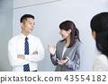 미팅 프레젠테이션 회의 협의 비즈니스 사업가 43554182